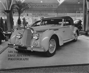 Talbot Lago factory display stand 1948 photo press photograph