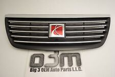 2005-2007 Saturn Ion Front Upper Chrome Grille w/ Red Emblem new OEM 22729179