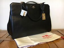 Coach Black Shoulder Large Grab Bag BNWT RRP £500 Designer Evening Leather Gold