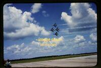 USAF Thunderbirds F-100C Super Sabre Aircraft in 1958, Original Slide e16b