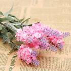 10 Heads Man-made Lavender Silk Flower Home Wedding Garden Floral Craft Decor