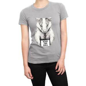 Stop the Badger Cull LADIES t-shirt animal rights protest save the badgers