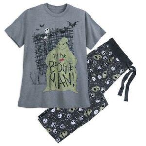 Disney Store Jack Skellington Men's Pajama Set I'm the Boogie Man Size Small NEW