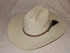 Bailey Beaver 3X XXX Cadiz Roper Tan Cowboy Country Mens Size 6 7/8  Top Hat Cap