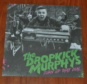 """Dropkick Murphys Turn Up the Dial 12"""" by 12"""" Signed Album Cover Print Auto /1500"""