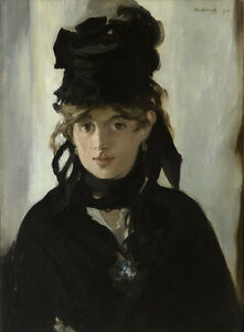 Edouard Manet  Berthe Morisot With violets Giclee Canvas Print Paintings Poster