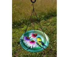 Bird Baths Goldfinch Glass Hanging Bird Bath Se5033