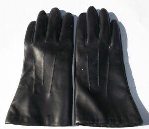 Black Gloves 100% Vinyl 100% Acrylic Lining Size 7.5
