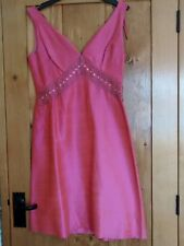 VINTAGE MADISON AVENUE LONDON COLLECTION  DRESS  40 12 / 14 PINK