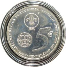 344 - 5 EUROS PORTUGAL 2007 - argent