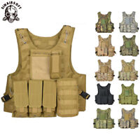 Tactical Amphibious Vest Hunting Jacket MOLLE Military Combat Plate Carrier Vest