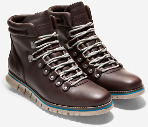 COLE HAAN Men ZEROGRAND Hike Boot Waterproof Java Cobblestone GRANDFOAM C33960
