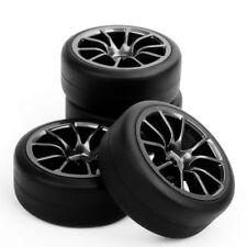 4Pcs Drift Tires Wheel Rims For HSP HPI 1:10 RC On-Road Racing Car PP0338+C12M