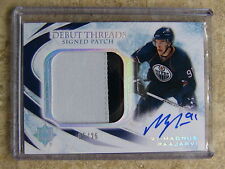 10-11 Ultimate Signed Debut Threads Auto Patch MAGNUS PAAJARVI Rookie RC /25