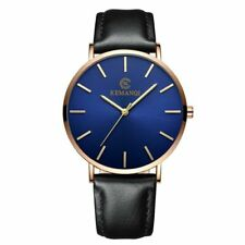 Mens Leather Waterproof Sport Watches Luxury Date Quartz Chronograph Watch NEW