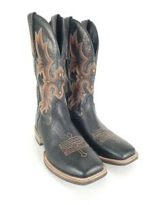 Ariat Tombstone Western Square Toe Boots Black Brown 10005873 Mens 10.5 D NEW