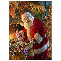 Full Drill Christmas 5D Diamond Painting Cross Crafts Stitch  Santa Claus Decor