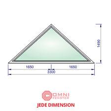 Holzfenster Dreieck modernes Design Fenster FIX 330 x 149cm Holz TOP QUALITÄT!!!