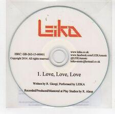 (GG974) Leika, Love Love Love - 2014 DJ CD