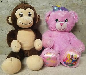 "Build-A-BearPair Disney's Princess Sparkle Bear and Curious George Chimp 18"""
