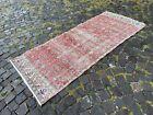 Handmade vintage rug, Wool rug, Runner rug, Kitchen rug   2,9 x 6,8 ft
