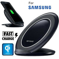 Qi Wireless Fast Charger Charging Stand Dock Pad For Samsung Galaxy S6 S7 Edge