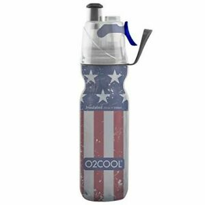 O2COOL ArcticSqueeze Insulated Mist 'N Sip Squeeze Bottle Patriotic 20 oz. * NWT