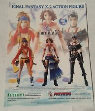 final fantasy x-2 action figure 2003  promo sheet