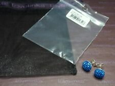 * Genuine Lovelinks * CRYSTAL STUD EARRINGS - ROYAL BLUE RRP £39 *