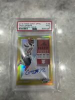 2018 Contenders Optic Rookie Ticket Autographed Chad Thomas #'d 10/10 Gold PSA 9