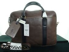BNWT RALPH LAUREN MEN'S LEATHER COMPUTER BAG MAHOGANY W BUSINESS CAS RRP £455
