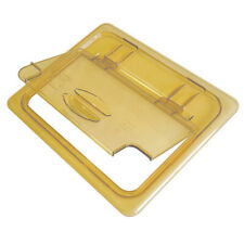 (Case of 6) Cambro 20HPLN150 Amber Notched FlipLid for 1/2 Size Food Pan (NEW)