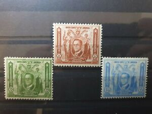 Philippines 1936 First Anniv of Autonomous Government. 3 stamp  set MH