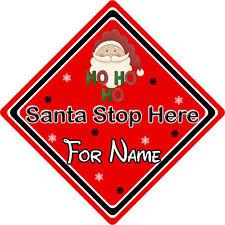 Personalizzata Babbo Natale Stop Qui Firmare finestra ~ Babbo Natale Ho Ho Ho-Rosso