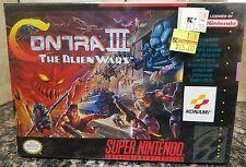 SNES Contra III: The Alien Wars New Sealed (NOT MAJESCO REPRINT) AMAZING!!