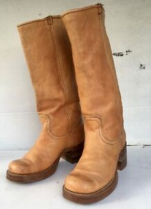 Beautful VTG Frye Black Tag leather ladies campus riding boots Size 5.5