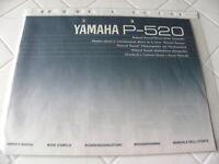 Yamaha P-520  Owner's Manual  Operating Instructions Istruzioni   New