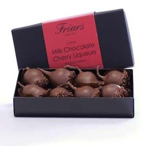Luxurious Milk Chocolate Whole Cherry Kirsch Liqueurs Gift Box 8 Chocolates 150g