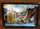 Vintage Heileman's Old Style Beer Illuminated Waterfall Scene With Motion Sign