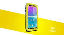 Love Mei Metallgehäuse Samsung Galaxy Note 4 Wasserdicht Stabiles Schutz gelb