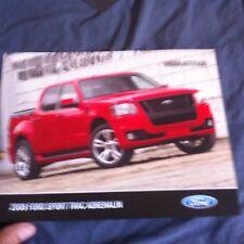 2007 Ford Explorer Sport Track Adrenalin Special Edition Color Brochure Prospekt