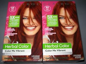 2 1-KIT BOXs Clairol Herbal Color Me Vibrant 44 Paint the Town Deep Red Hair Dye