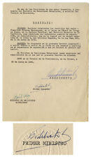 Fidel Castro Document Signed as Prime Minister, 19610