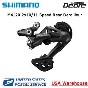 Shimano Deore RD-M4120 Shadow 2x10/11 Speed Long Cage SGS Rear Derailleur MTB