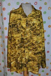 MENS XL  MOSSY OAK Elements Camo Fishing  long sleeve button front  SHIRT   EUC