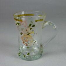 Biedermeier Glas Henkelbecher