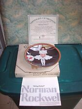"Vintage 1986 Norman Rockwell Knowles Collector Plate ""Sitting Pretty"" Coa Box"