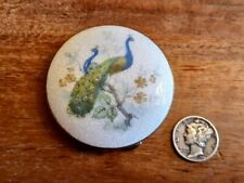 New listing French Enamel Compact 1920s Art Deco Peacock Excellent