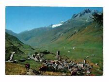 Switzerland - Hospental, Gotthardstrasse mit Galenstock - Vintage Postcard