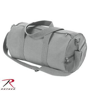 "Rothco 19"" Grey Canvas Shoulder Bag - 19"" x 9"" Heavyweight Canvas Duffle Bag"